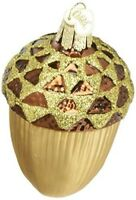 Old World Christmas Large Acorn Glass Blown Ornament