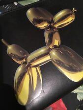 JEFF KOONS X H&M Yellow Balloon Dog Black Leather Cross Body Bag Brand New