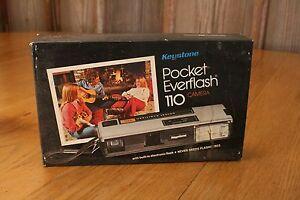 Vintage Keystone Pocket Everflash 110 Camera With Original Box Build In Flash