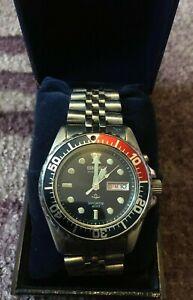 Seiko Kinetic Sports 200M Divers Watch 5M43-0A40 - GWO VGC - Steel Strap - Pepsi