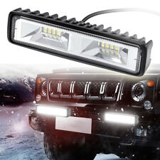 6 inch 48W 16LED Work Light Flood Beam Bar Car SUV OffRoad Driving Fog Lamps NY