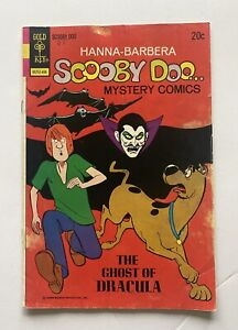 """SCOOBY DOO #25 Gold Key """"Ghost of Dracula"""" tough issue 1974"""