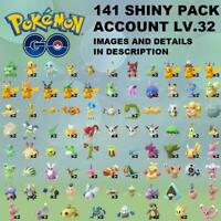 Pokemon Go SHINY x141 Account ✨ PIKACHU HAT LUCARIO RAYQUAZA UMBREON CHARIZARD