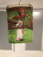 Mini Garden Yard Flag New Dogwood Kitten Free Fast Shipping