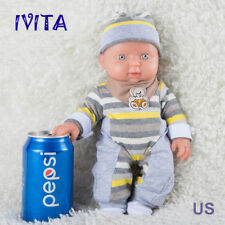 IVITA 11.8'' Full Body Silicone Reborn Baby Soft Body Silicone Doll