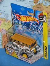 HOT WHEELS MONSTER JAM HIGHER EDUCATION BUS SPECIAL HOLIDAY EDITION OFF-ROAD NEW