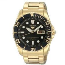 Seiko 5 Sports SNZF22 J1 Gold with Black Dial Men's Automatic Analog Watch