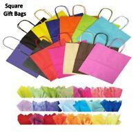 20x quadrato in carta per feste Sacchetti regalo & tessuto WRAP ~ NEGOZIO