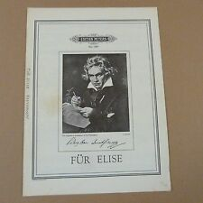 piano solo BEETHOVEN fuer Elise