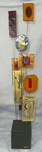 1967 C Curtis Jere Kinetic Sculpture On Wires Acrylic Brutalist Metals Eames Era