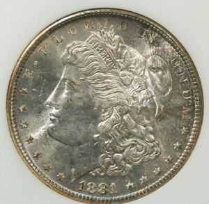 1881-S 1881 Morgan Dollar $1 NGC MS66 Old no line fatty holder Beautiful color!