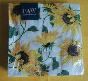 20 Servietten Sonnenblumen Blumen 1 Packung OVP Motivservietten sunflower
