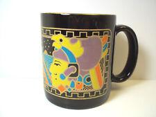 Kamora Liquer coffee mug Black with Mayan Aztec design gold rim 12 oz