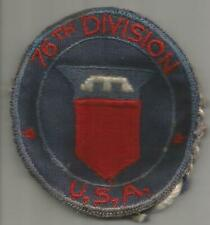 WW 2 US Army 76th Divisoin PX Mirror Patch no mirror Inv# H604