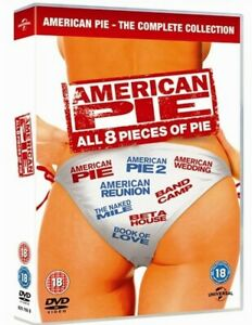 American Pie The Complete Collection All 8 Pieces of Pie 1-8 NEW Region 2 DVD