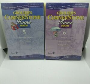 Grollier's Cornerstone Home Math Grades 5-6 Whole Numbers Fractions Percents