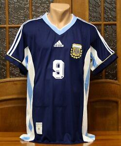 ARGENTINA NATIONAL TEAM AWAY JERSEY SHIRT WORLD CUP 1998