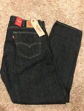NWT Levis 505 Mens Jeans Regular Fit Straight Leg 36X32 505-0059 Tumbled Rigid