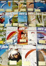 21x DHV-info 2005 2006 2007 2008 Drachen Gleitschirmflieger Zeitschrift Jahr