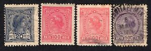 Brazil 1918 stamps Mi#193-198 with o.Wm MH/used CV=8,40€