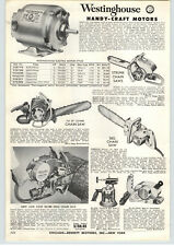 1955 PAPER AD Strunk Luther Silver King Chain Saw Vintage Antique