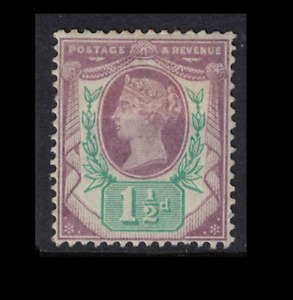 GB stamps - 1887 - jubilee issue 1 1/2d purple pale green mint hinged sg198