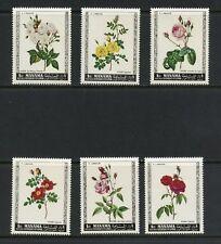 Ajman/Manama 1969  flora ROSES flowers  6v.  MNH  M347