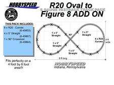 LIONEL AF FASTRACK R20 OVAL TO A FIGURE 8 TRACK LAYOUT ADD-ON-PACK S GAUGE NEW