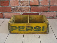 Vintage Yellow PEPSI Wood Crate St. Louis MO Missouri, Dated 7-72