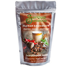 SARVAA SUPERFOOD Mayan Chocolate - Organic, Vegan, Raw Meal Protein Powder 10 oz