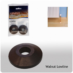 Unika Solid Wood Low Line Pipe Covers Walnut - Pack of 2 (FREE POST)