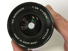 MINOLTA MD W-ROKKOR 28mm f/2.8 Lens ( 55mm filter size ) * READ *