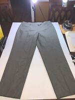NEW Talbots Women's Career Work Olive Dress Pants Size 14