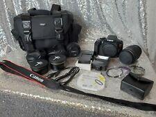 Canon EOS Rebel T6 FULL KIT macro lens 50mm 18-55mm flash uv filter bag strap