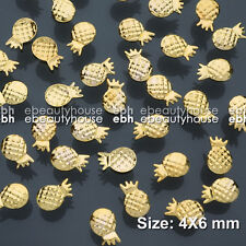 50 Pcs 4X6 mm 3D Nail Art Decoration Ocean Series Alloy Pineapple #EG-232