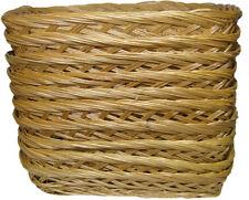 10 x openweave Wicker Baskets BREAD FRUIT Poison Basket Hamper Display Tray - 34 cm
