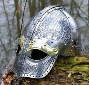 MEDIEVAL VINTAGE NORMAN VIKING ARMOUR HELMET SPECTACLE REPLICA GIFT