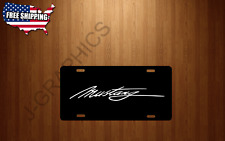 Ford Vehicle Black License Plate Front Auto Tag Mustang Signature
