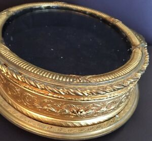 French Victorian Bronze Dore  Box with  Trim and Filigree