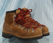 Rustic Vintage Beige US Made Unbranded Hiking Mountaineering Boots Sz 5.5M