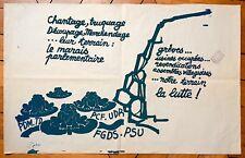 MAI 68 affiche sérigraphie Chantage Trucage Découpage Marchandage Politique