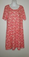 WEST INDIES Dress 100% Pure Cotton Nautical Shells Red/Coral White Size M *NWT*