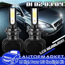 400W 40000LM D1S D2S D3S D4S/R Car COB LED Headlight Kit DRL Fog Bulbs 6000K KIT