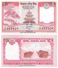 Nepal 5 RUPEES 2012 UNC banconote P-69