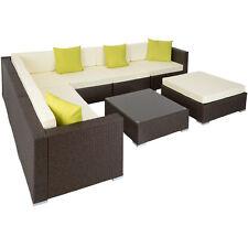 Aluminium luxury rattan garden furniture sofa lounge set outdoor wicker