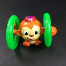 Bright Starts Light Up & Roll Orange Monkey Crawling Developmental Toy EUC