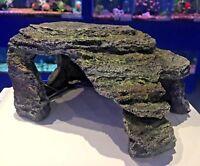 Grey Natural Effect Cave Fish Tank Swim Through Hide Hideaway Aquarium Ornament