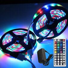32.8FT 10M 3528 SMD RGB LED Light Strip+44Key IR Remote Control+12V US Power