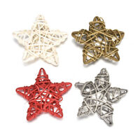 5X Christmas Rattan Wicker Balls Star Heart Home Wedding Party Decorations