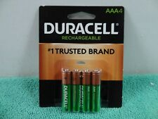 New Duracell AAA Rechargeable Batteries, AAA  4-Pack,  1.2V NiMH